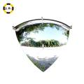 Espejo convexo esférico de 90 grados con visualización real