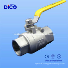 Turkey Type Stainless Steel 2PC Ball Valve with DIN