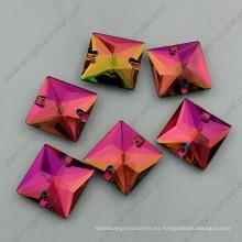 Crystal Vitral Medium Square Shape Crystal Stones (DZ-3068)