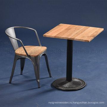 Промышленный квадратный твердой древесины столик и стул (СП-CT677)