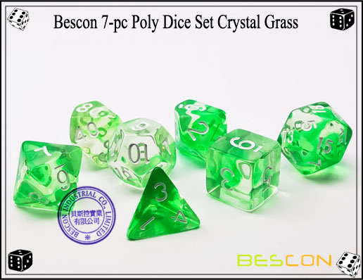 Crystal Green Dice Set-1