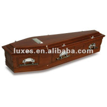 Euro style wooden coffin