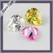 Hermosas piedras preciosas de circonio cúbico colorido suelta cuentas