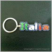 Cadeau Italia Tour Souvenir Cadeau Porte-clés avec émail couleur (F1221)