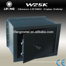 Wall mounted safe box key opened W25K