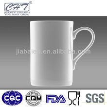 12OZ Fine bone china wholesale white ceramic mug with handle