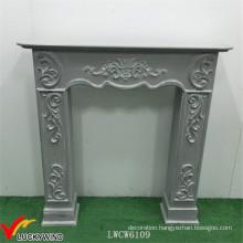 European Style Green Vintage Wood Fireplace Mantel