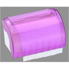 Hotel Publicl Toilet venta al por mayor púrpura translúcido redondo plástico montado en la pared de papel de seda rollo de toalla dispensador titular
