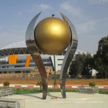 jardim grande ao ar livre decorar metal artesanato espelho bola escultura