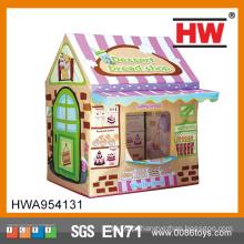 Out Door Play Pão Casa Com Porta Tenda Para Crianças