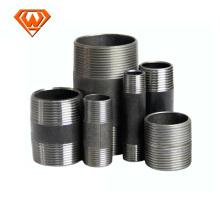 Pezón de tubo de acero al carbono negro y galvanizado