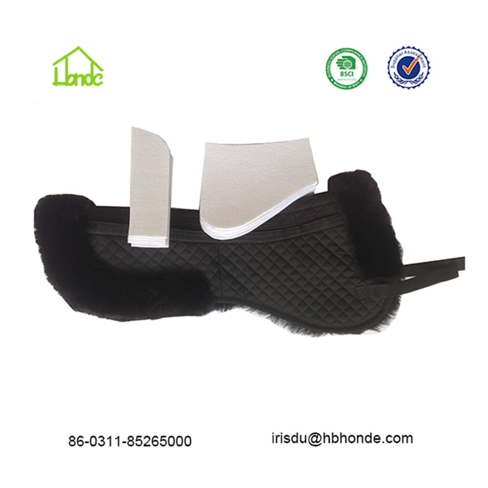 sheepskin saddle pad with pocket