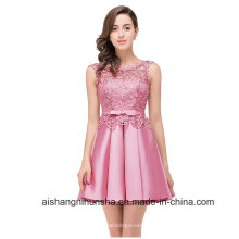 Kurze Sexy Applique Spitze Formale Party Kleid Abendkleid