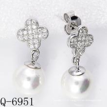 2015 Derniers styles Boucles d'oreilles perles cultivées Argent 925 (Q-6951)