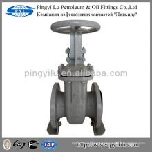 Aço carbono rússia padrão aumento haste latão yoke porca aço válvula de porta desenho