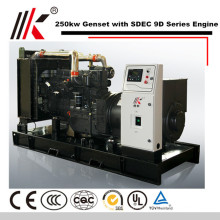SHANGHAI 495A DIESEL ENGINE PARTS WITH 250KW DYNAMO GENSET