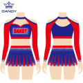 Professionelle Cheerleaderuniform aus Strass