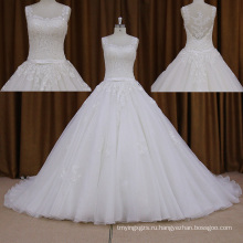 2016 Бальное Свадебные Платья+Бисер Длинный Поезд Кружева Платье