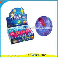High Quality Kid's Toy 65mm Rubber LED Flashing Fish Stripe Light-up Hi Bouncing Ball