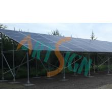 Structure de stationnement en acier solaire