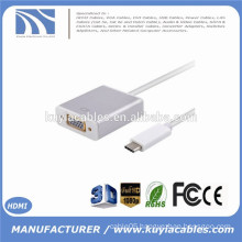 USB-C USB 3.1 Type C Male to VGA Female 1080P Display Monitor Adapter Cable for 2015 Macbook Black