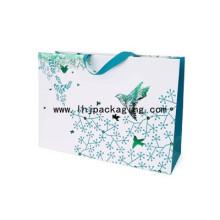 Классическая роскошная бумажная сумка с клееной лентой сверху