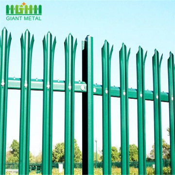 Colorful D Section Steel Palisade fencing