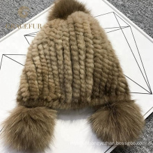 New trendy China factory brown wool fur hat