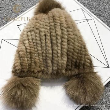 Novo chapéu de peles de lã marrom moda China fábrica