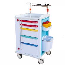 Hospital Medical Furniture Device ABS First-Aid Emergency Trolley Crash Carts