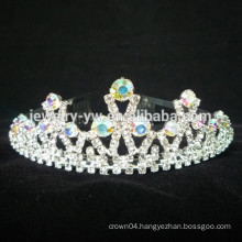wholesale hair accessories rhinestone princess crowns for kids