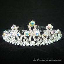 Оптовые аксессуары для волос rhinestone princess crowns для детей