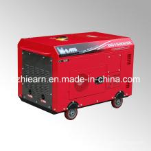 Zwei Zylinder Silent Typ Diesel Generator Set Rote Farbe (DG15000SE)