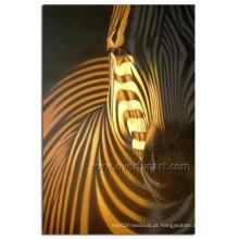 Pintura a óleo handmade moderna da zebra na lona para o miúdo (AN-030)