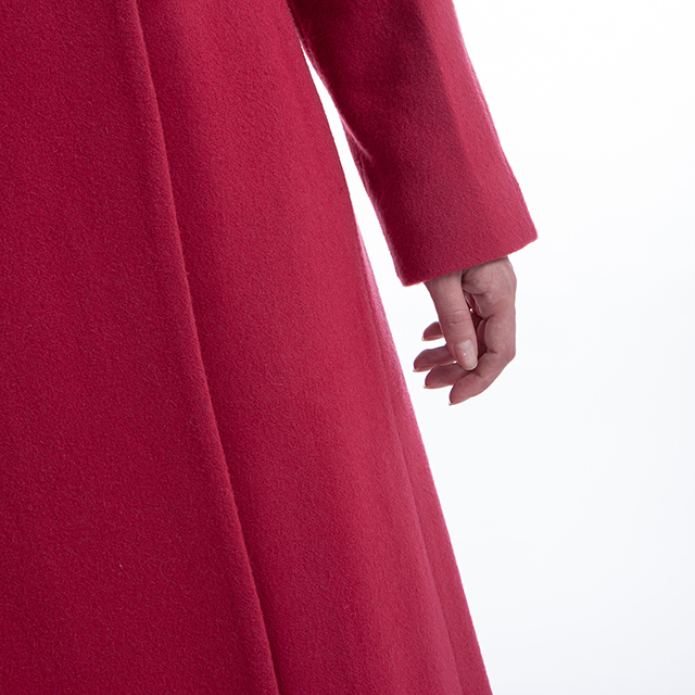 Long Rose Colored Cashmere Coat