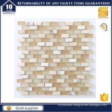 Strip Marble Mosaic for Interior Wall Floor Glass Mosaic