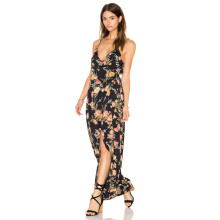 Chiffon Flower Sexy Beach Women Dress