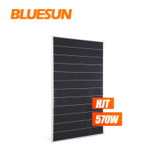 Bluesun 500w 550w 570w HIT HJT Solar Panel 500w Mono Solar Panel 72 Cells paneles solares precio