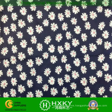 Daisy imprimió la tela de la gasa del poliéster para el vestido o la camisa de las mujeres