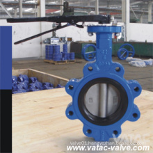 Lever Operated Cast Steel Full Lug Marine Butterfly Valve