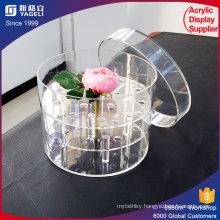 Custom Clear Acrylic Circle Flower Box