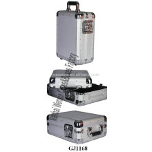 Новые прибытия серебро тяжелых алюминиевая чемодан