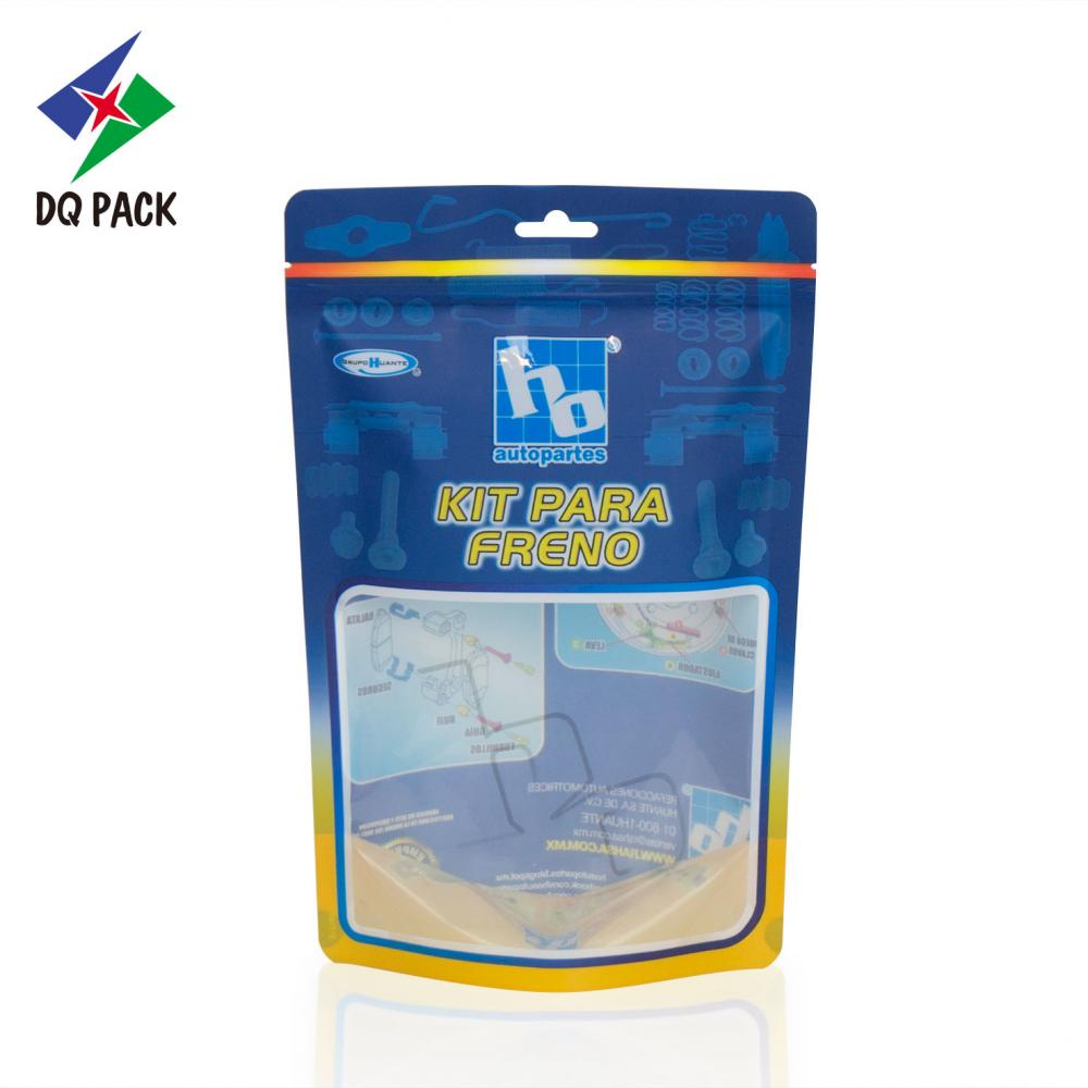 Flexible packaging stand up zipper pouch