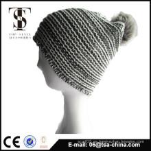 Sombrero barato del knit del pom del invierno de la manera al por mayor