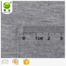 Grey melange rayon stretch french terry knitted fabric