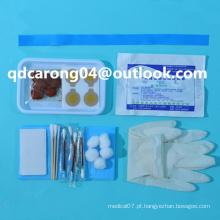 Kit de preparação de infusão esterilizada descartable médica