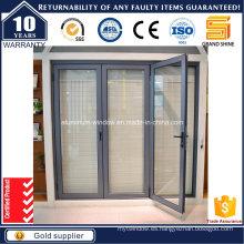 Diseño Europeo Rotura Térmica Puerta Biselada de Aluminio