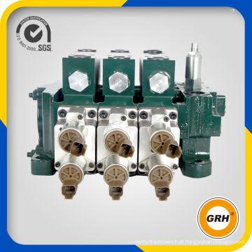 Válvula de controle multidirecional principal hidráulica de ferro fundido China para trator