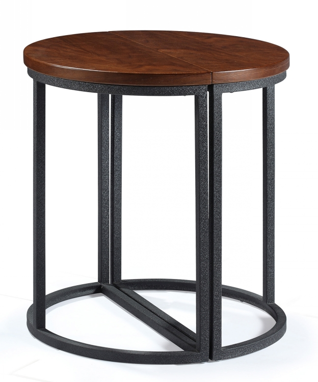 Classic Metal Leg Round Restaurant Woodtop Coffee Tables