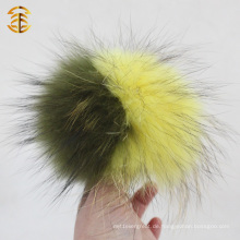 Super große Waschbär Pelz Ball echten Waschbär gefärbt Pelz Pompom für Beanies Schlüsselanhänger
